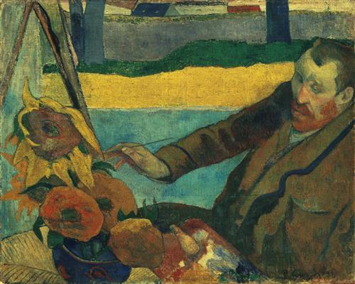 Постер на подрамнике Ван Гог и подсолнухи