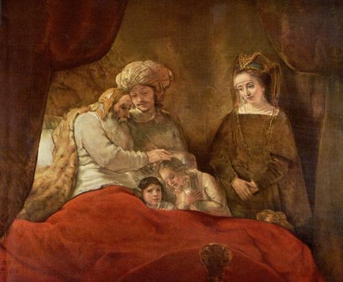 Постер на подрамнике Jacob Blessing The Sons Of Joseph