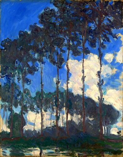 Постер на подрамнике Poplars on the Epte 2