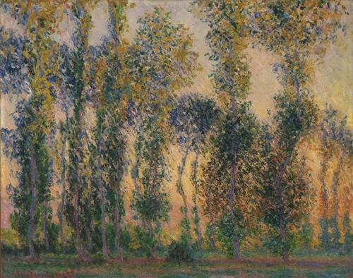 Постер на подрамнике Poplars at Giverny, Sunrise