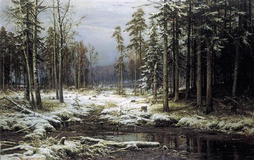 Плакат Первый Снег
