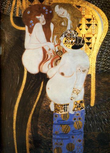Постер на подрамнике Фриз Бетховена, деталь