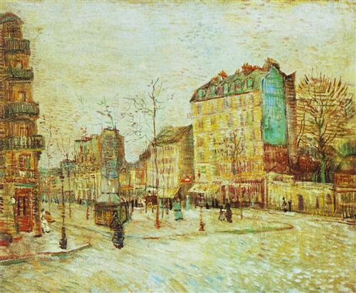 Постер на подрамнике Boulevard de Clichy