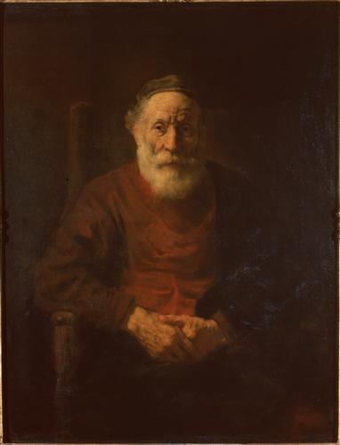 Плакат Portrait of an Old Man in Red