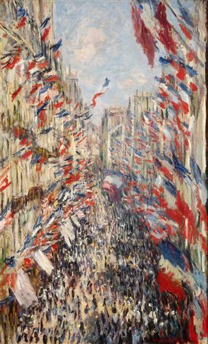 Постер на подрамнике The Rue Montorgueil, 30th of June 1878