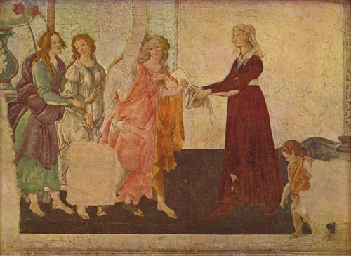 Плакат Fresken aus der Lemmi-Villa bei Florenz (Szene