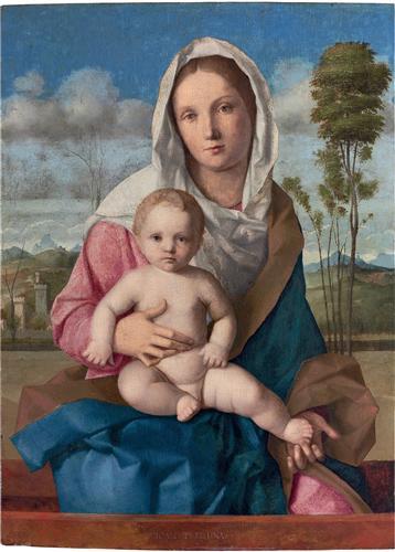 Постер на подрамнике The Madonna and Child in a landscape