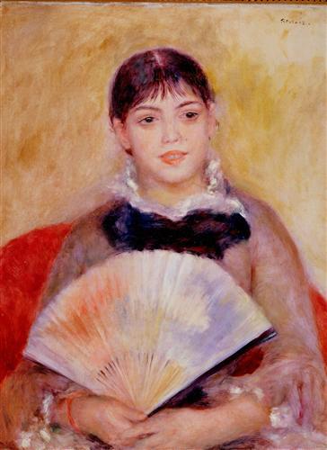 Постер на подрамнике Girl with a Fan