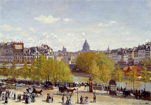 Постер на подрамнике Quai du Louvre