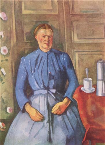 Плакат Woman with Coffee Can