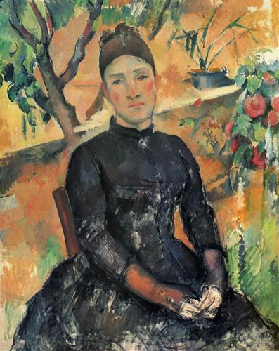 Плакат Madame Cezanne in the Greenhouse