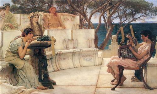 Плакат Sappho and Alcaeus