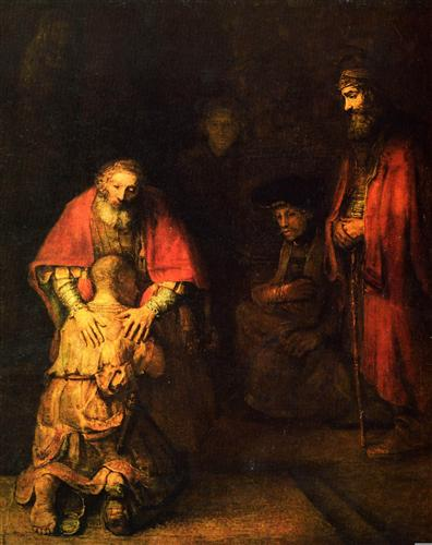 Постер на подрамнике Возвращение блудного сына Die Heimkehr des verlorenen Sohnes