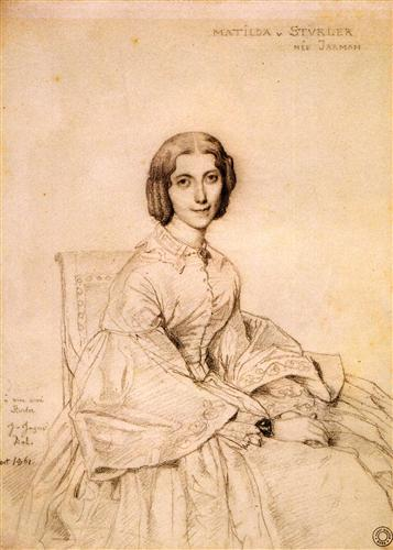 Постер на подрамнике Madame Franz Adolf von Stuerler, nee Matilda Jarman