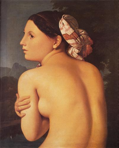 Постер на подрамнике Half-Figure of a Bather