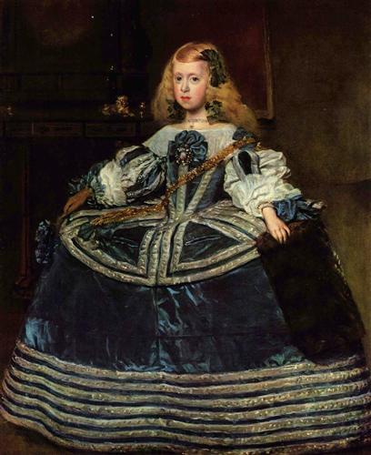 Постер на подрамнике Infanta Margarita Teresa in a Blue Dress