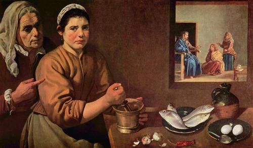Плакат Cristo en casa de Marta y Maria