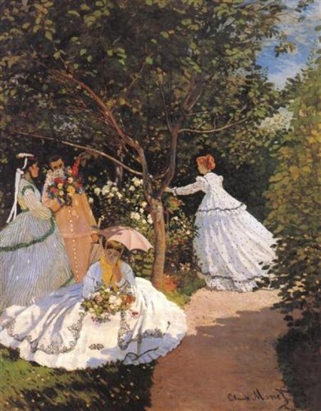Постер на подрамнике Women in the Garden