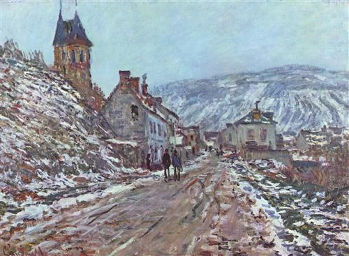 Постер на подрамнике Street near Vetheuil in Winter