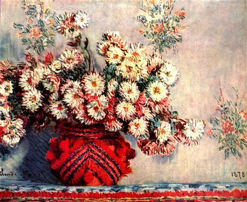 Постер на подрамнике Still-Life with Chrysanthemums
