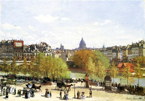 Постер на подрамнике Le quai du Louvre