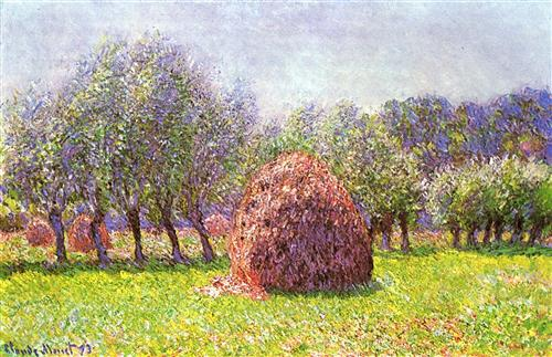 Постер на подрамнике Heap of Hay in the Field