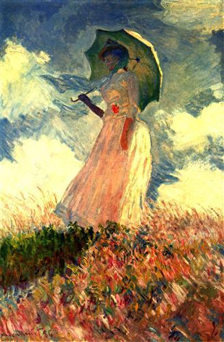 Постер на подрамнике Woman With Sunshade