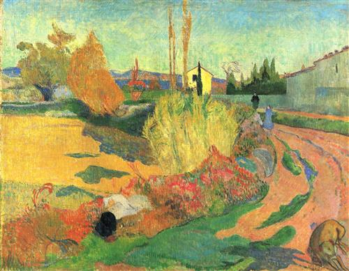 Плакат Farmhouse from Arles, or Landscape from Arles