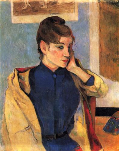 Постер на подрамнике Portrait of Madelaine Bernardbi, sister of the artist Emile Bernard