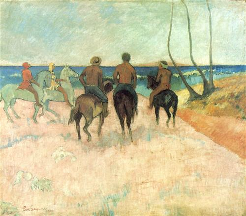Плакат Cavaliers sur la plage I