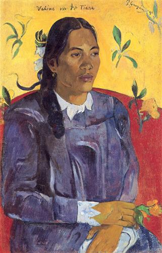 Постер на подрамнике La femme a la fleur
