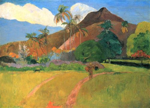 Постер на подрамнике Montagnes tahitiennes