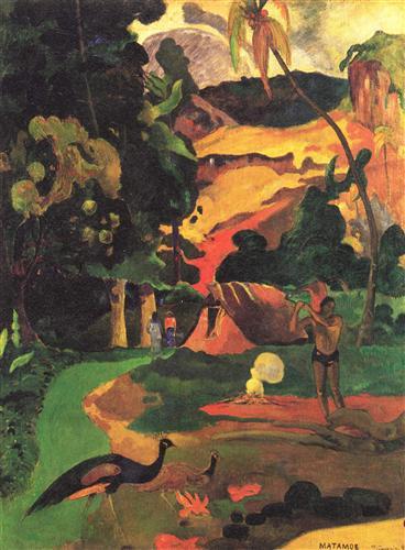 Постер на подрамнике Paysage aux paons