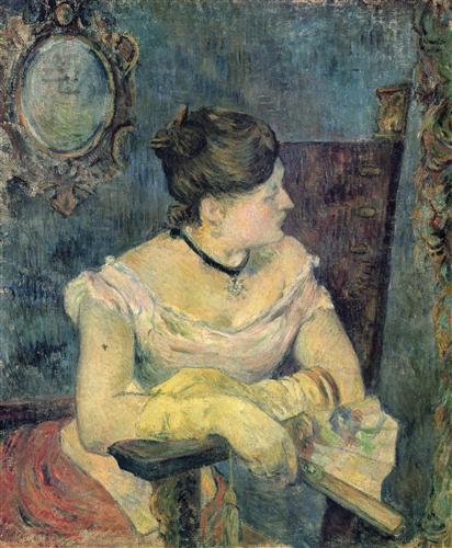 Постер на подрамнике Mette Gauguin en robe de soir
