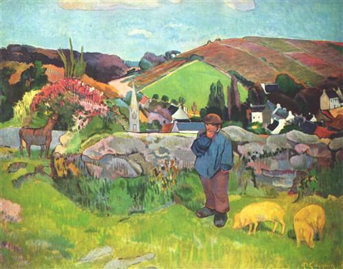 Постер на подрамнике The Swineherd