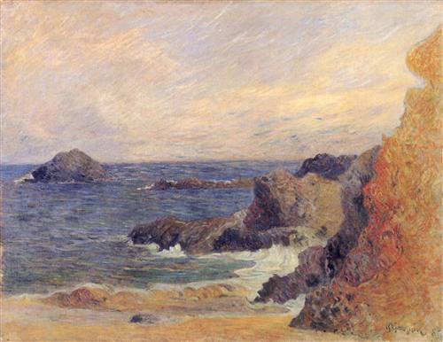 Плакат Rochers au bord de la mer
