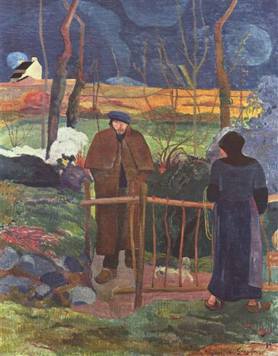 Плакат Bonjour Monsieur Gauguin