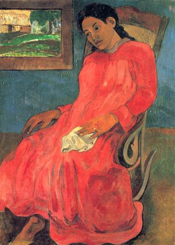 Постер на подрамнике Reverie ou La Femme a la robe rouge