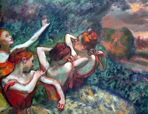 Постер на подрамнике Four Dancers