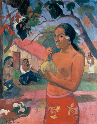 Постер на подрамнике Woman Holding a Fruit (Eu haere ia oe)