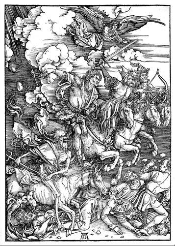 Постер на подрамнике The four horsemen of the Apocalypse