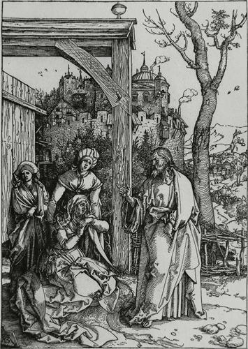 Постер на подрамнике Jesus prenant conge de sa merei