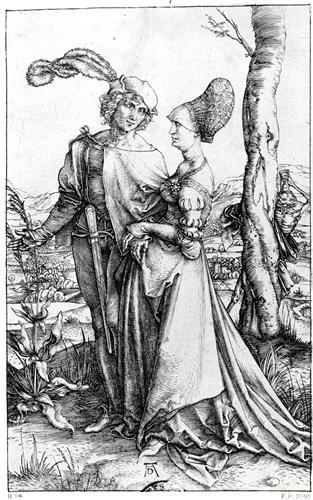 Постер на подрамнике Young Couple Threatened by Death or, the Promenade