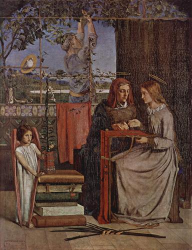 Постер на подрамнике The Girlhood of Mary Virgin