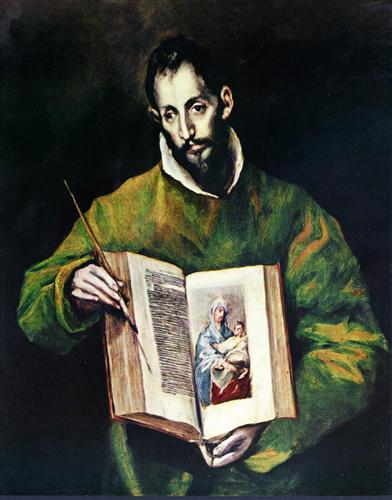 Постер на подрамнике Hl. Lukas als Maler