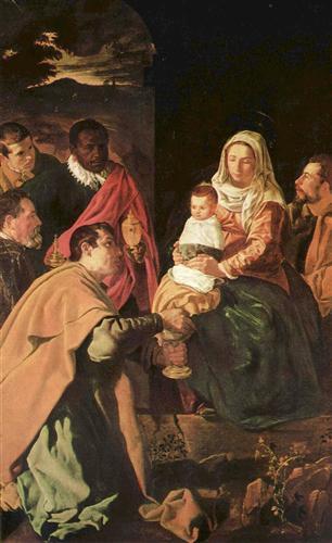 Постер на подрамнике Anbetung der Heiligen Drei Konige (Epiphanias)
