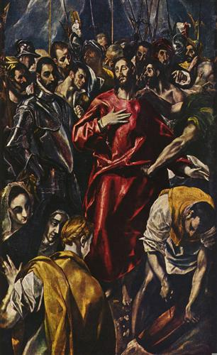 Постер на подрамнике Entkleidung Christi