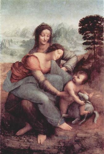 Плакат Святая Анна с Марией и младенцем