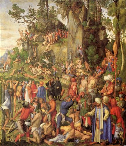 Постер на подрамнике Marter der zehntausend Christen