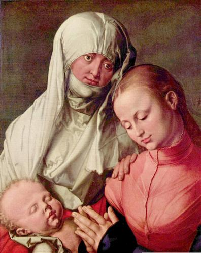 Постер на подрамнике Jungfrau und Kind mit der Hl. Anna